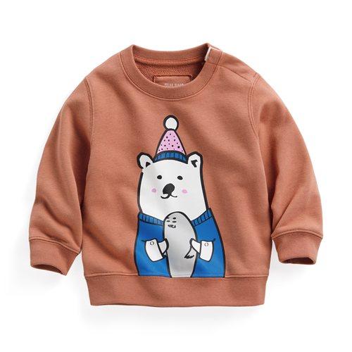 Polar Bear Benjamin毛圈圓領衫-01-Baby