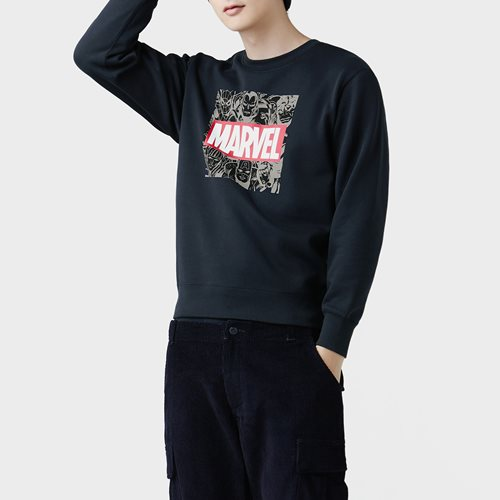 漫威系列刷毛圓領衫-06-男