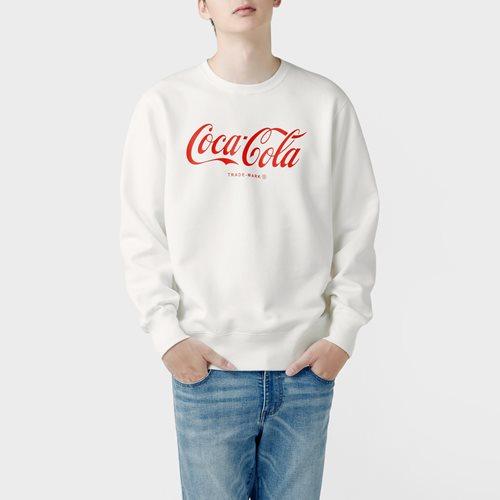 可口可樂刷毛圓領衫-01-男