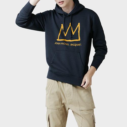 Jean-Michel Basquiat刷毛連帽衫-02-男