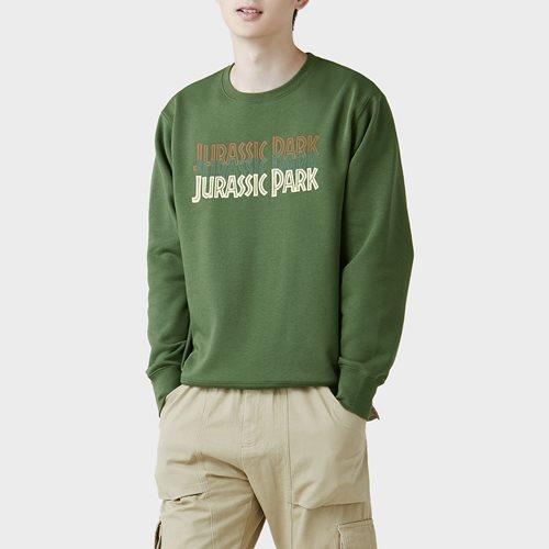 Jurassic World刷毛圓領衫-05-男