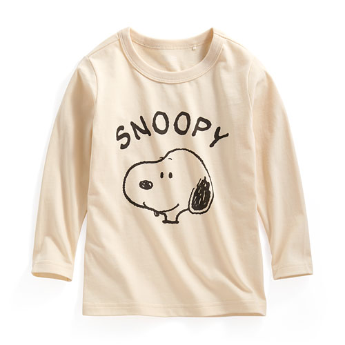 史努比長袖印花T恤-01-童