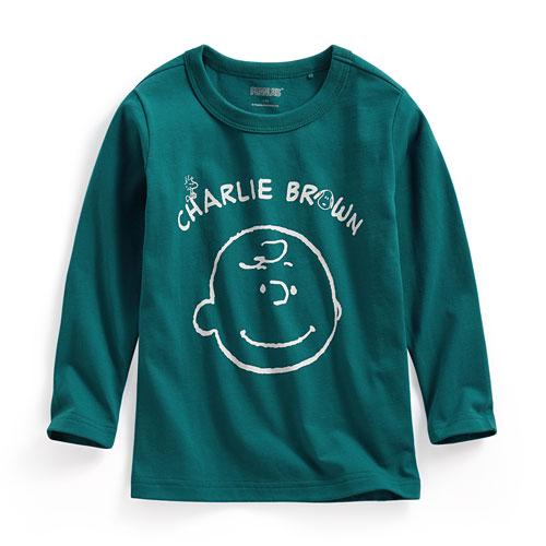 史努比長袖印花T恤-03-童