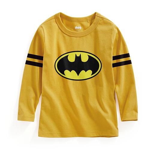 Batman長袖印花T恤-02-童