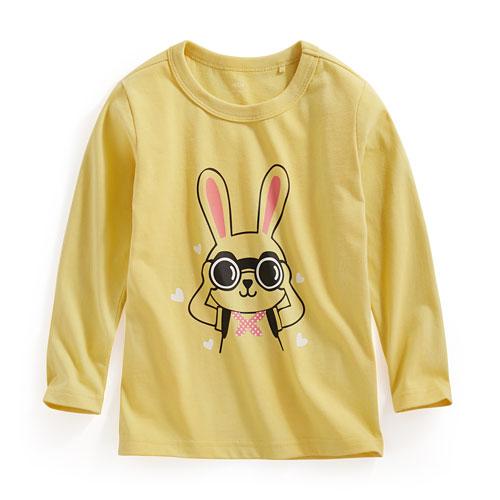 望遠兔長袖印花T恤-童