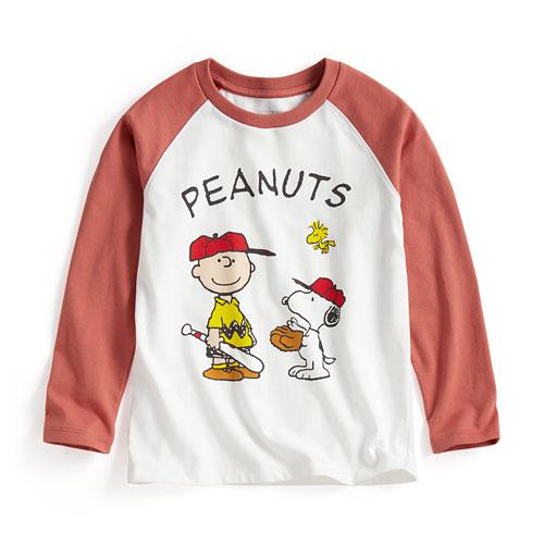 史努比拉克蘭長袖印花T恤-04-童