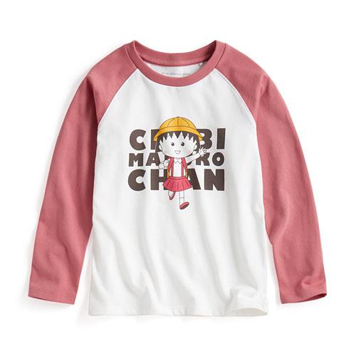 櫻桃小丸子拉克蘭長袖印花T恤-02-童