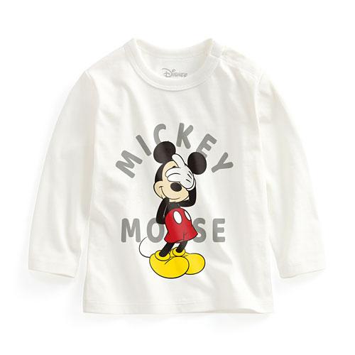 迪士尼系列長袖印花T恤-03-Baby