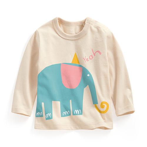 大象長袖印花T恤-Baby
