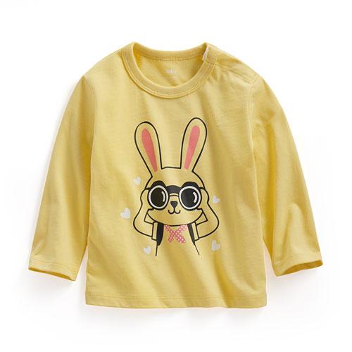望遠兔長袖印花T恤-Baby