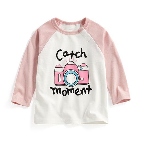 相機拉克蘭長袖印花T恤-Baby