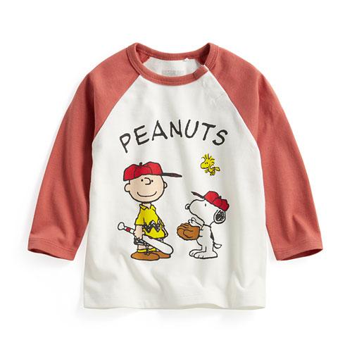 史努比拉克蘭長袖印花T恤-04-Baby
