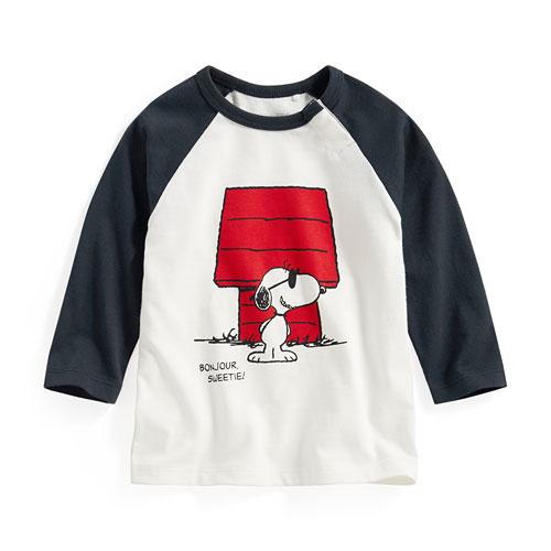 史努比拉克蘭長袖印花T恤-06-Baby