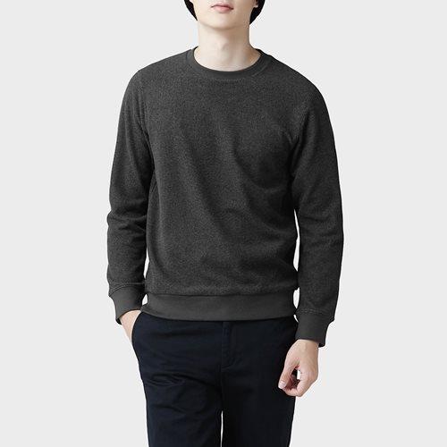 Fleece圓領上衣-男