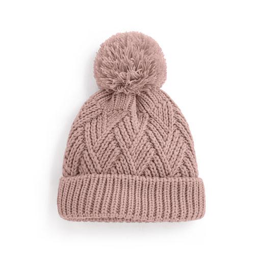 毛球針織帽-童