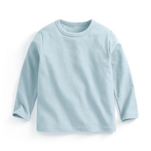 磨毛羅紋圓領長袖T恤-童