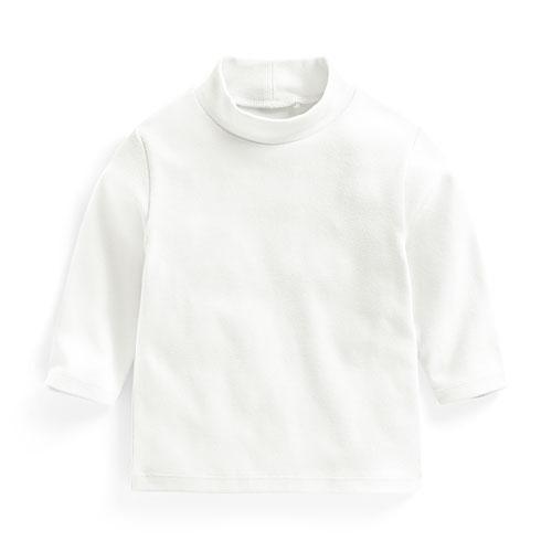 磨毛羅紋立領長袖T恤-Baby