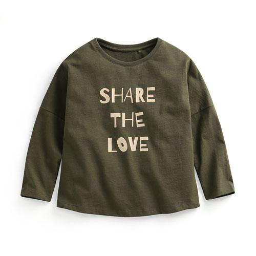 竹節棉寬鬆印花T恤-02-童