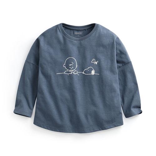 史努比竹節棉寬鬆T恤-童