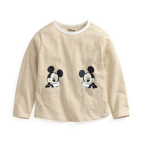 迪士尼系列竹節棉口袋上衣-童