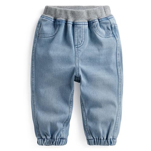 羅紋針織牛仔束口褲-Baby