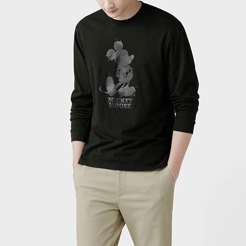 迪士尼系列長袖印花T恤-10-男