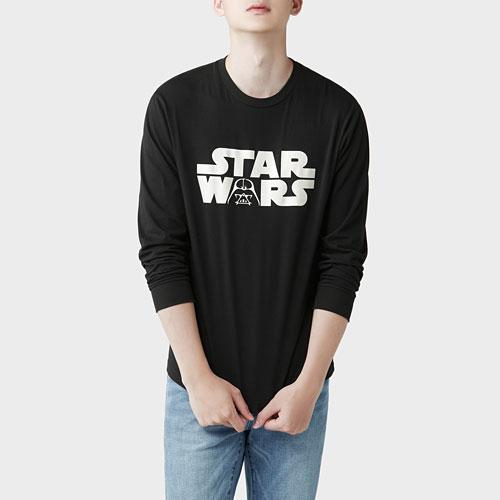 STAR WARS系列長袖印花T恤-05-男