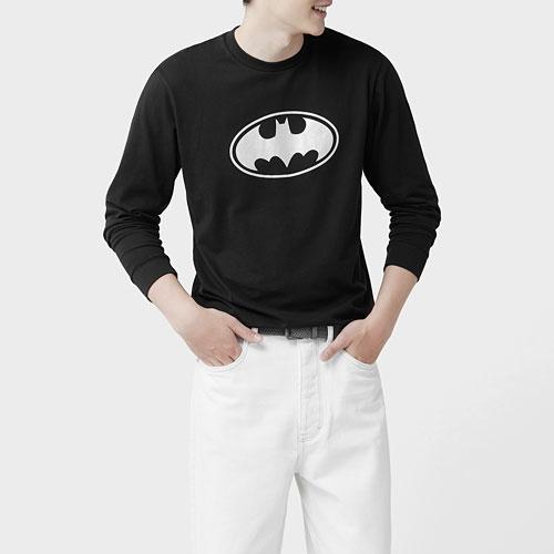 Batman長袖印花T恤-02-男