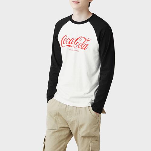 可口可樂拉克蘭長袖印花T恤-02-男