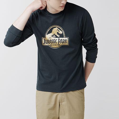 Jurassic World長袖印花T恤-01-男