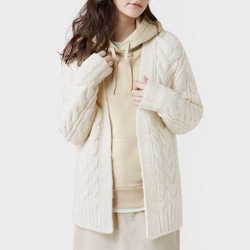 麻花寬版針織外套-女