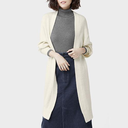 長版針織外套-女