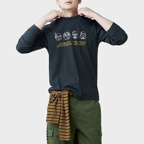 STAR WARS系列長袖印花T恤-08-男
