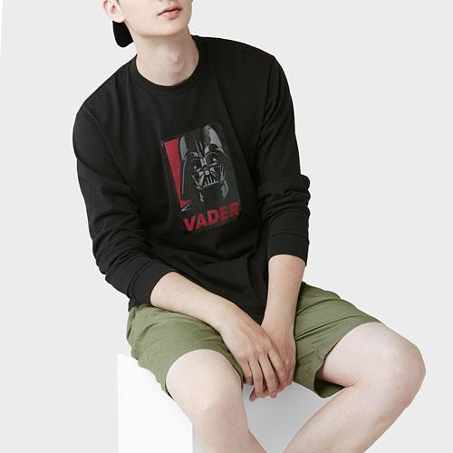 STAR WARS系列長袖印花T恤-06-男
