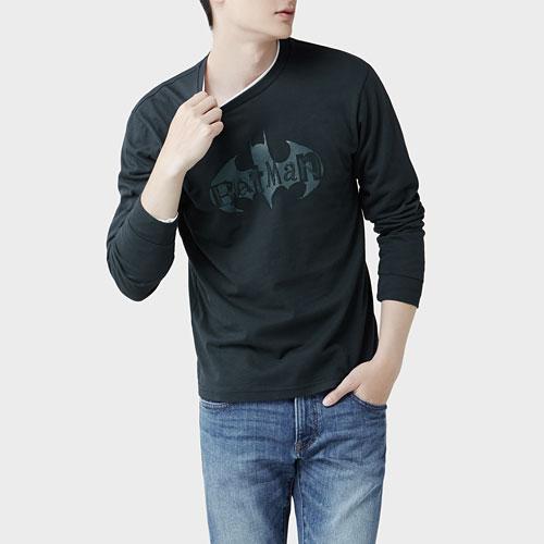 Batman長袖印花T恤-04-男