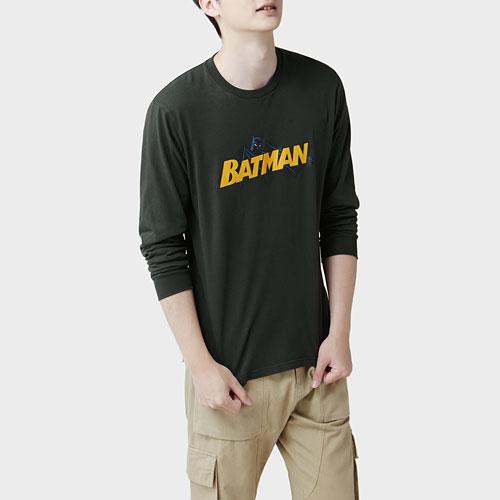Batman長袖印花T恤-01-男