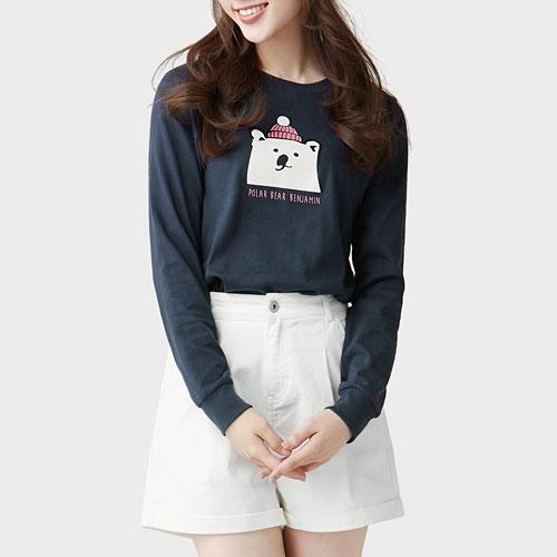 Polar Bear Benjamin長袖印花T恤-02-女