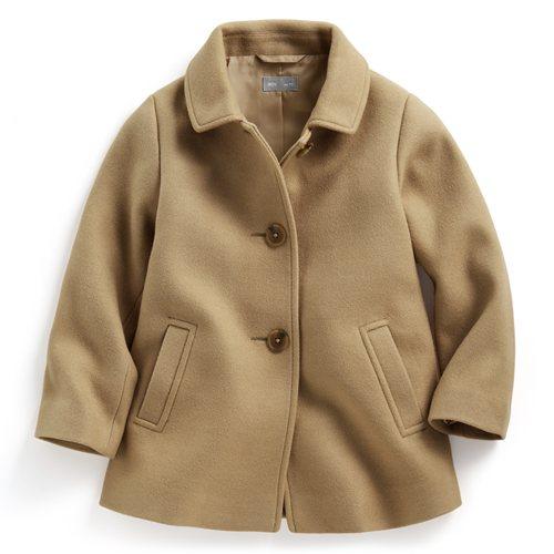 羊毛混紡短大衣-童