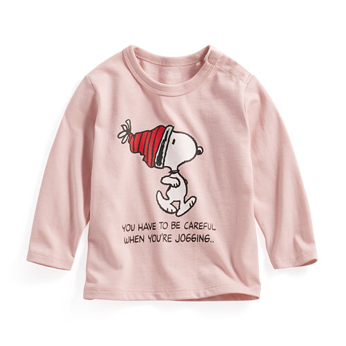 史努比長袖印花T恤-05-Baby