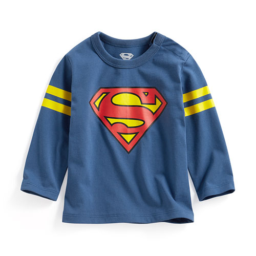 Superman長袖印花T恤-01-Baby