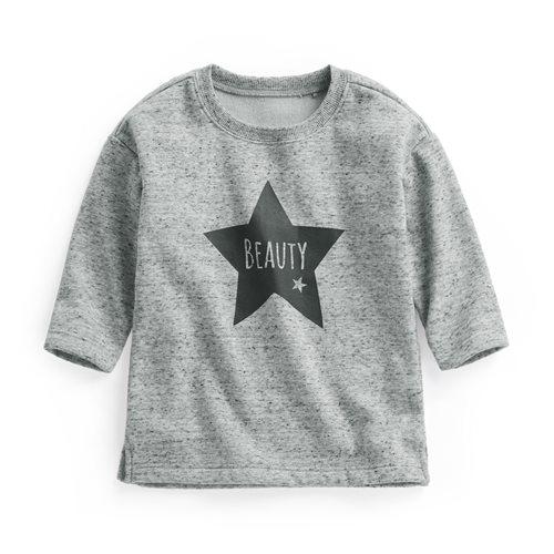 毛絨印花長版上衣-Baby