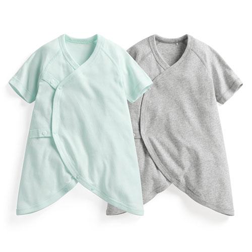 純棉羅紋蝴蝶衣(2入)-Baby