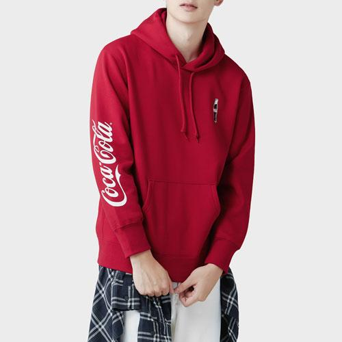 可口可樂刷毛連帽衫-05-男