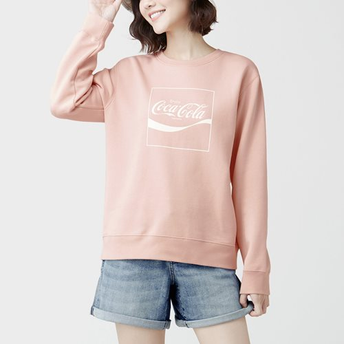 可口可樂刷毛圓領衫-06-女