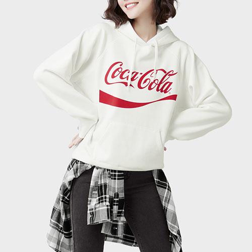 可口可樂刷毛連帽衫-04-女