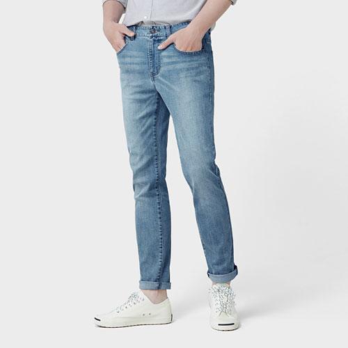 修身直筒牛仔褲-男