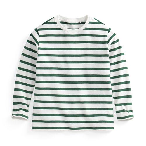 純棉條紋長袖T恤-童