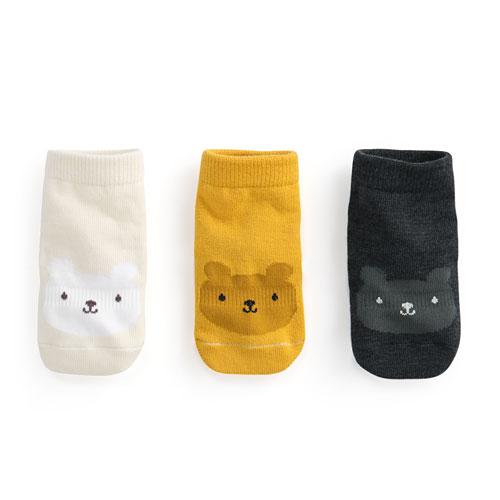 提花中筒襪(3入)-Baby