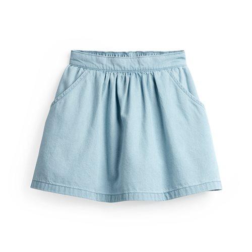 軟牛仔裙褲-童