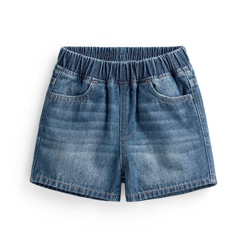 牛仔鬆緊短褲-Baby